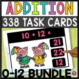 Addition Facts Fluency Practice Games for 0 to 12 Digital YEARLONG Activities