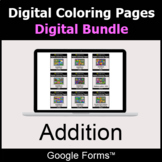 Addition - Digital Coloring Pages Bundle | Google Forms