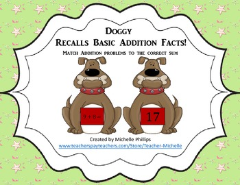 Addition - Doggy Recalls Basic Addition Facts!