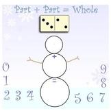 Addition- Domino Snowman Math SMARTboard