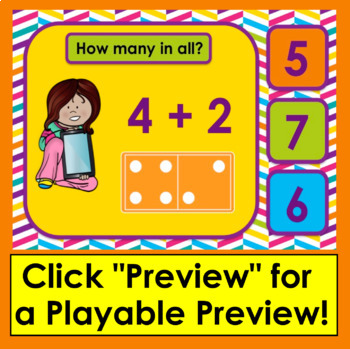 Boom Cards™ Addition Dominoes - Interactive Self-Checking Digital Task Cards