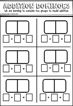 Addition Dominoes Recording Sheet