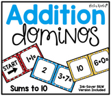 Addition Dominos {Sums to 10}