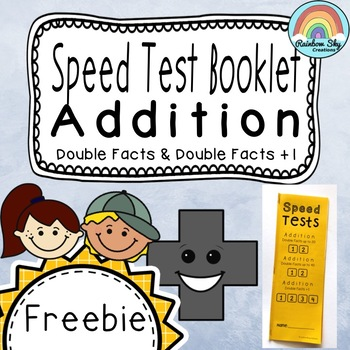 Addition Double Facts Speed Test Booklet - Freebie