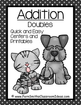 Addition Doubles Centers A Quick and Easy to Prep Center and Printables Bundle