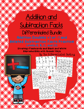 Addition Doubles +1 or -1 and Related Subtraction Facts Flashcards and Handouts