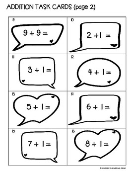 Addition Doubles And Plus 1 Task Cards (kindergarten, first grade, second grade)