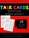 Addition Doubles And Plus 1 Task Cards (kindergarten, firs