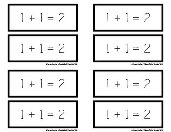 Addition Doubles Fact Flashcards:1-10 {1st Grade– CCLS: 1.OA}