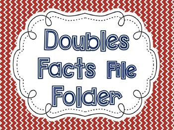Addition Doubles Facts File Folder Activity