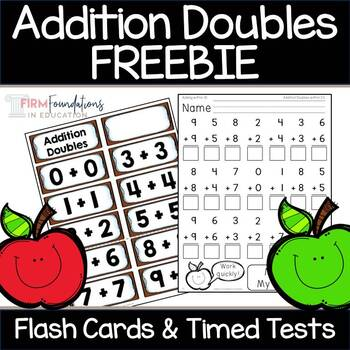 Addition Doubles Flash Cards & Timed Tests {Freebie}
