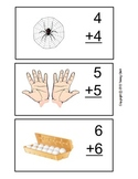 Addition Doubles Flash Cards with Visuals