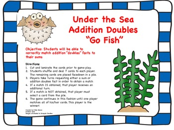 Addition Doubles Go Fish!