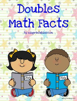 Addition Doubles Math Facts, Illustrated Cards