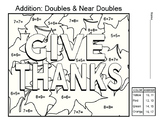 Addition : Doubles & Near Doubles Math worksheet