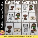 Addition Math Center Games Addition Doubles Plus One Center Bundle