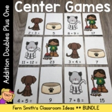 Math Center Games Addition Doubles Plus One Bundle