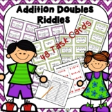 Addition Doubles Riddles Task Cards-Who Am I?