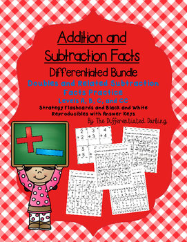 Addition Doubles and Related Subtraction Facts Flashcards and Handouts