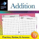 Addition Drills: Straight Forward Math