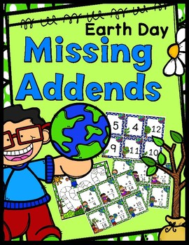Missing Addends Game - Earth Day