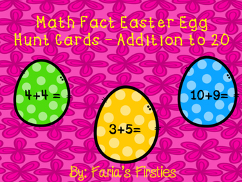 Addition Easter Egg Hunt Cards FREEBIE!