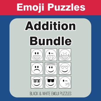 Addition - Emoji Picture Puzzles Bundle