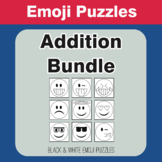 Addition - Emoji Picture Puzzles Bundle