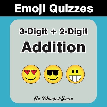 Addition Emoji Quiz (3-Digit + 2-Digit)