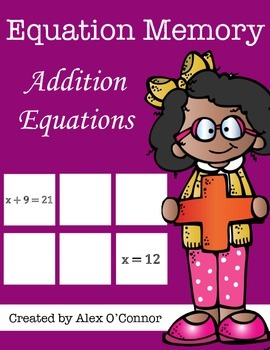 Equation Memory: Addition Equations