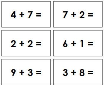 Addition Equation Slips
