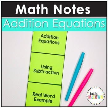 Addition Equations Notes