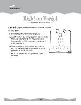 Addition: Equations (Ten-Minute Activities)