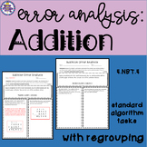 Addition Error Analysis: Standard Algorithm {CCSS 4.NBT.4}