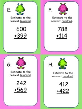 Addition Estimation Scoot to the Nearest Hundred