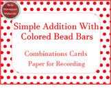 Addition Cards for  Montessori Bead Bars - Simple Addition