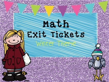 Addition Exit Tickets-Winter Theme