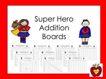 Addition Fact Boards (Super Hero)