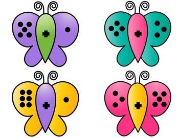 Subitizing Addition Game - Fact Butterflies