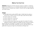 Addition Fact Cards 1-20