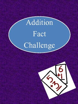Addition Fact Challenge Fun 0-12