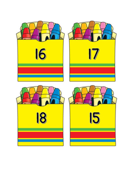 Addition Fact Crayons 11-20