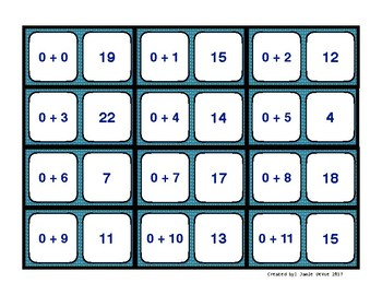 Addition Fact Dominoes