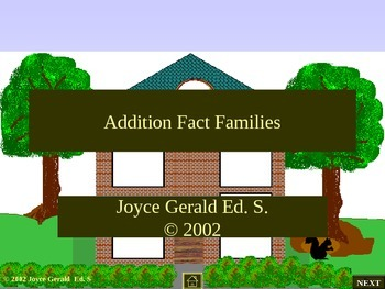 Addition Fact Families