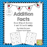 Addition Fact Families 3 and 4: Cooperative learning Peer-