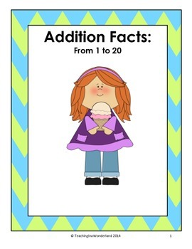 Addition Fact Families - Ice Cream Scoop Activity (Numbers to 20)