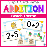 Addition Fact Family Slap-It! Card Game Beach Theme