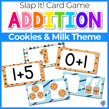 Addition Fact Family Slap-It! Card Game Cookie Theme