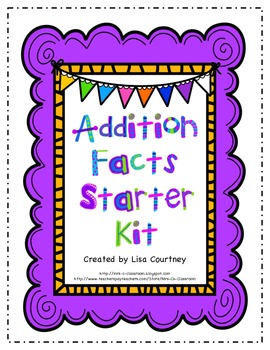 Addition Fact Family Yearly Starter Kit - Forms, Timed Tests, Flash Cards...