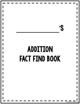 Addition Fact Find Puzzles- Set 1